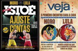 Capas de Veja e Istoé - Sérgio Moro x Lula