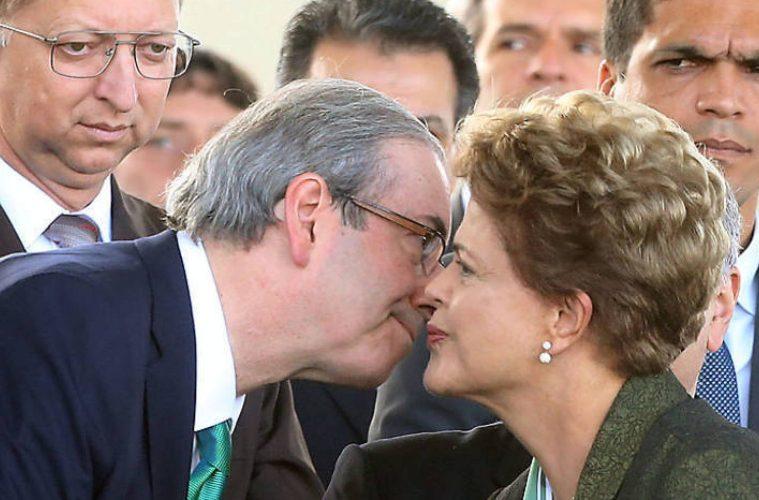 Eduardo Cunha e Dilma Rousseff.