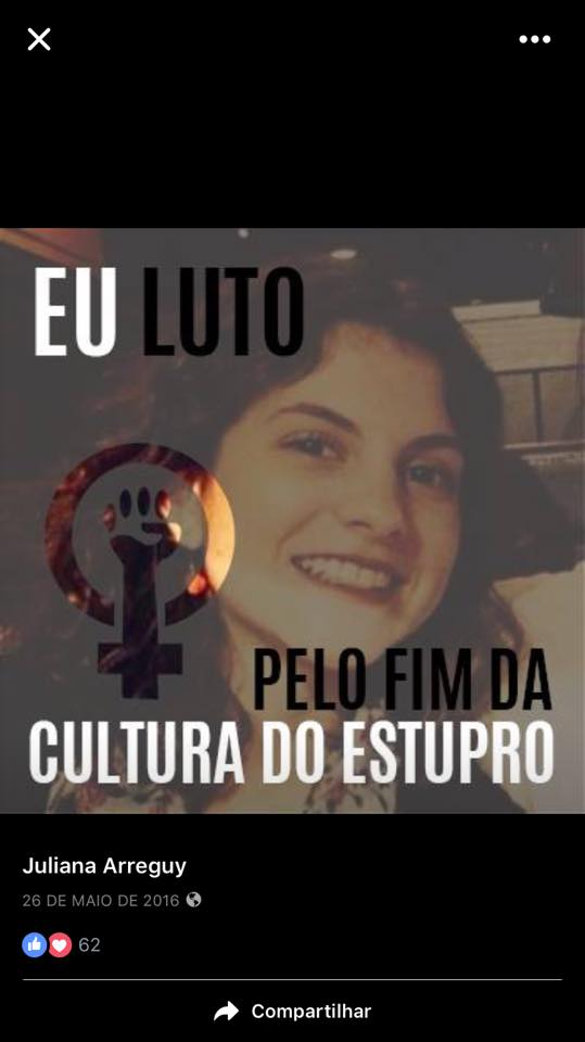 Juliana Arreguy - jornalista de O Globo, avatar do Facebook.