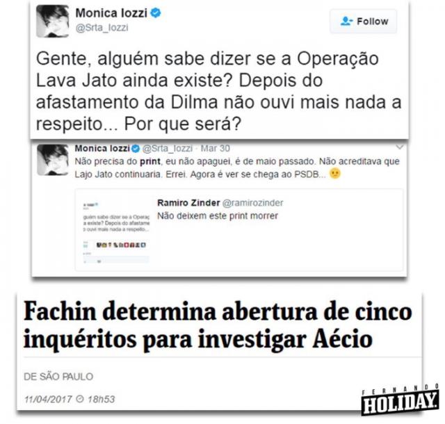 Mônica Iozzi - Lava Jato - Aécio Neves - Fachin
