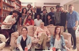 Paula Lavigne e artistas e celebridades em seu apartamento no Leblon.