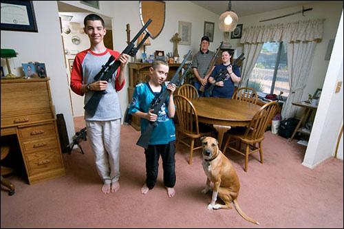 Família americana armada