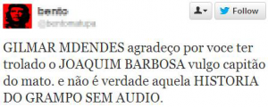 Racismo contra Joaquim Barbosa no Twitter