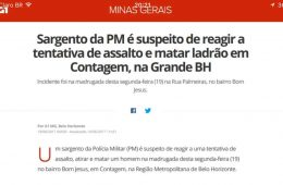G1 Globo Policial PM suspeito de reagir a assalto