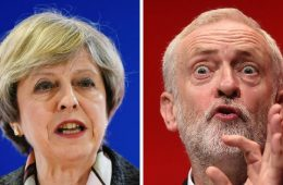 Theresa May e Jeremy Corbyn, candidatos a primeiro ministro