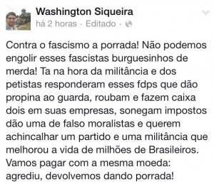 Washington Quaquá, presidente do PT no Rio de Janeiro e prefeito de Maricá.