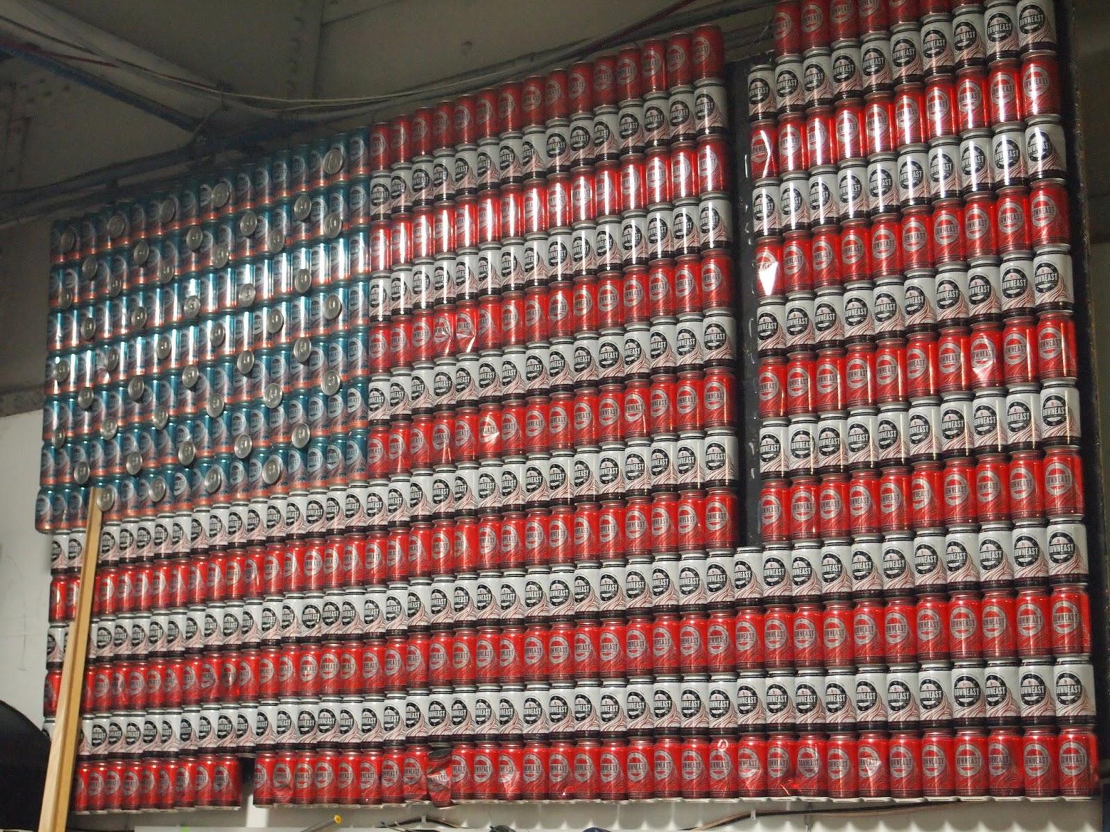 Bandeira americana latas