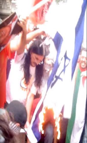 Deputado Babá, do PSOL, queima bandeira de Israel