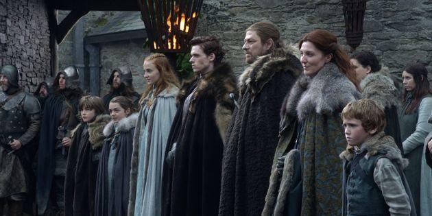 Família Stark unida