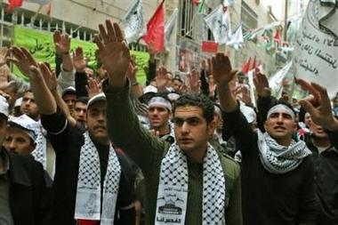 Hamas faz o gesto nazista