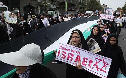 Marcha no Irã pede o fim de Israel