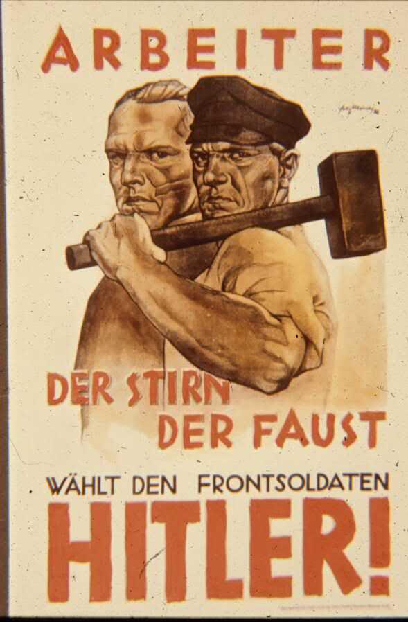 Poster nazista sobre trabalhadores alemães