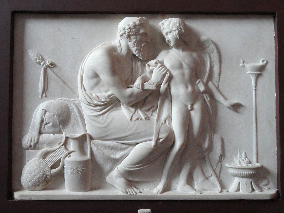 Cupido recebido por Anacreonte