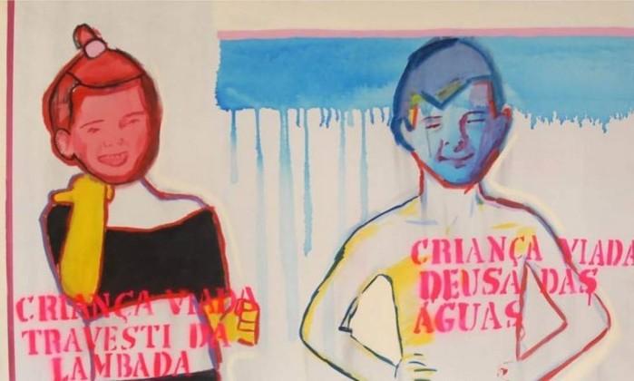 Criança viada - Queermuseu do Santander