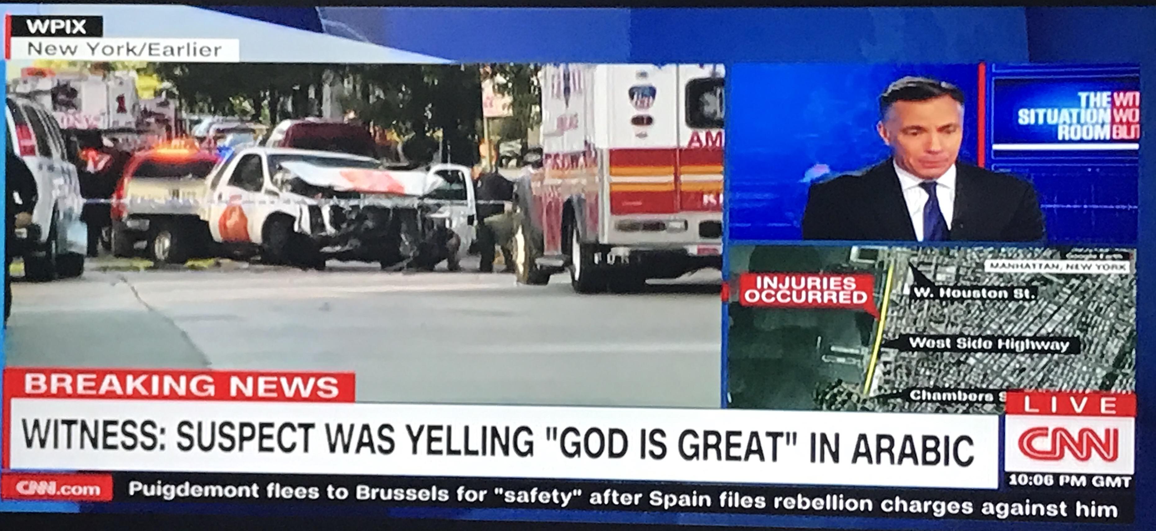 """CNN traduz """"Allahu akbar"""" por """"Deus é grande"""" em árabe"""