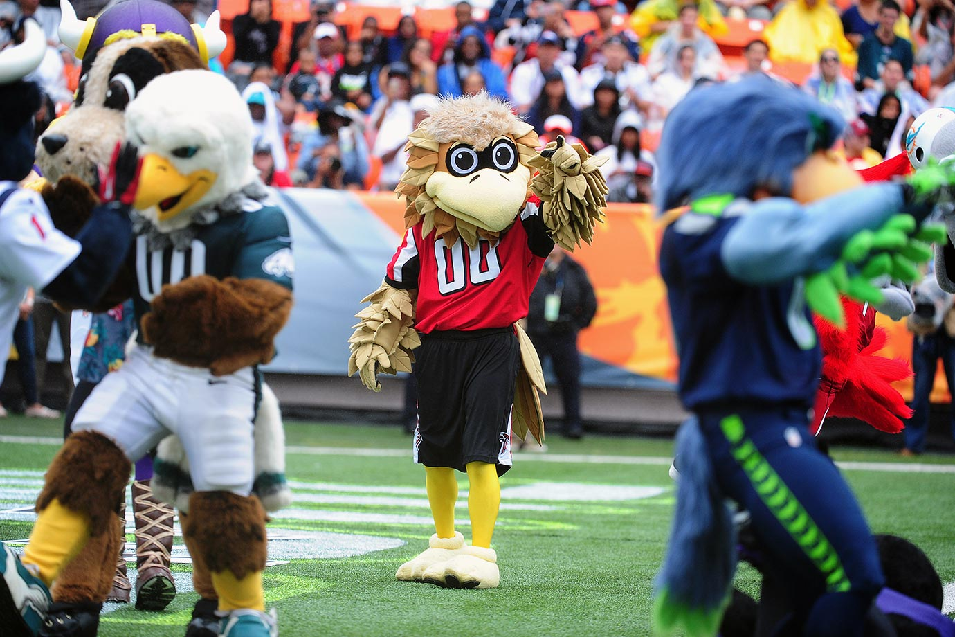 NFL - Mascote Freddy, do Atlanta falcons