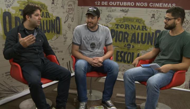 """Danilo Gentili em entrevista a Diego Bargas, ex-jornalista da Folha, sobre o filme """"Como se tornar o pior aluno da escola"""""""
