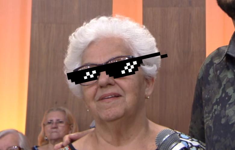 Dona Regina no Encontro, da Rede Globo