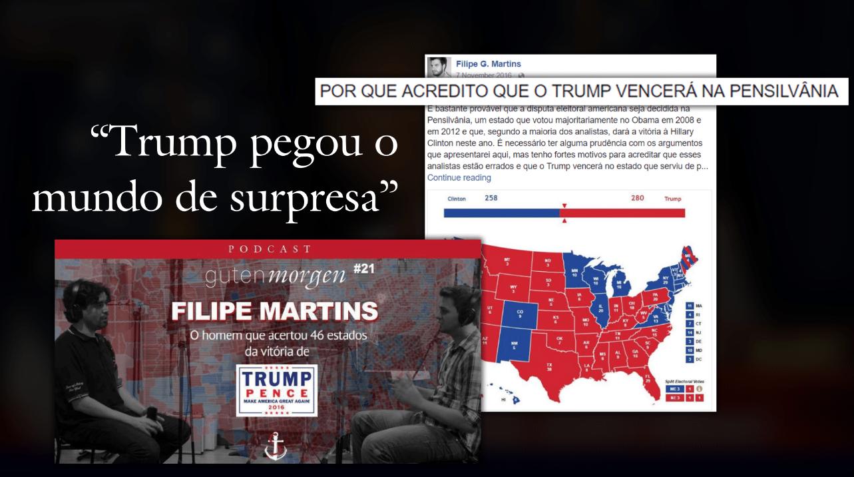 Filipe Martins acerta 48 estados da eleição de Trump, e define que a eleição será definida na Pensilvânia