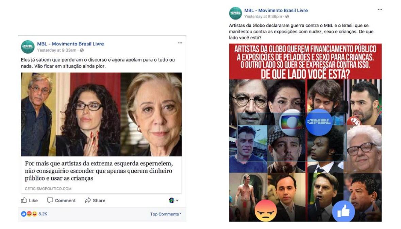 Post do MBL sobre Caetano Veloso - pedofilia
