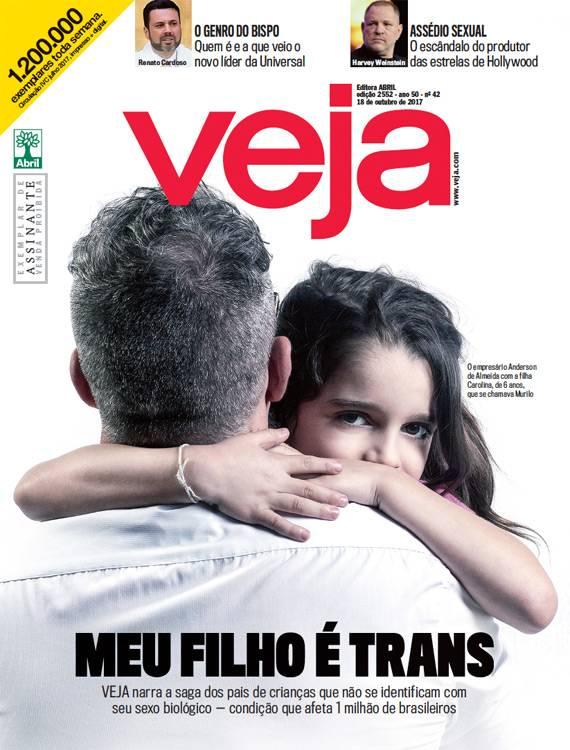 """Capa da Veja: """"Meu filho é trans"""""""