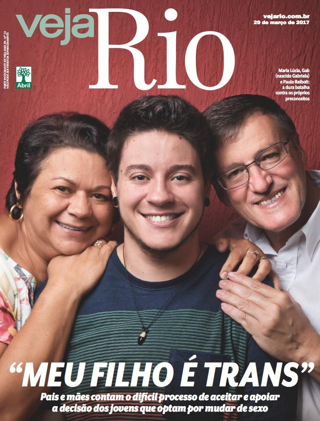 """Capa Veja Rio: """"Meu filho é trans"""""""