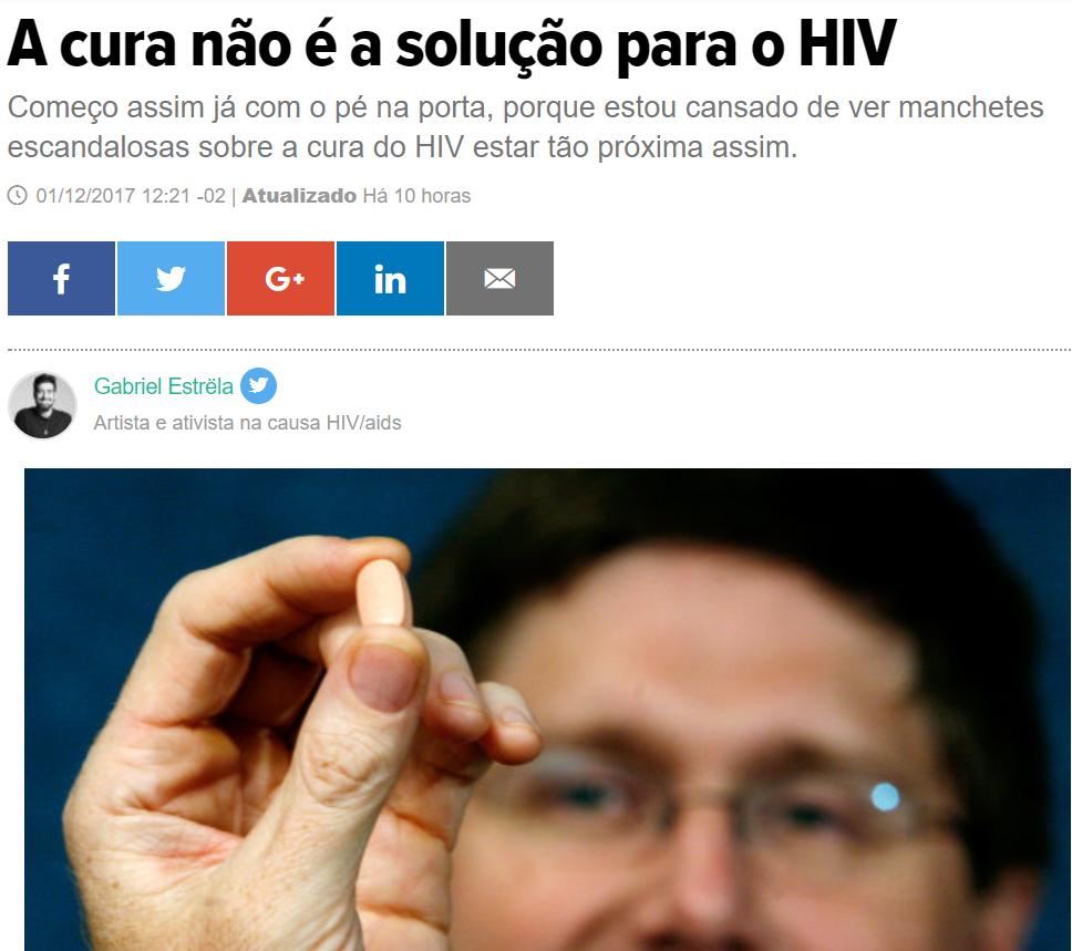 HuffPost - Huffington Post Brasil - acredita que cura do HIV não é solução para a AIDS