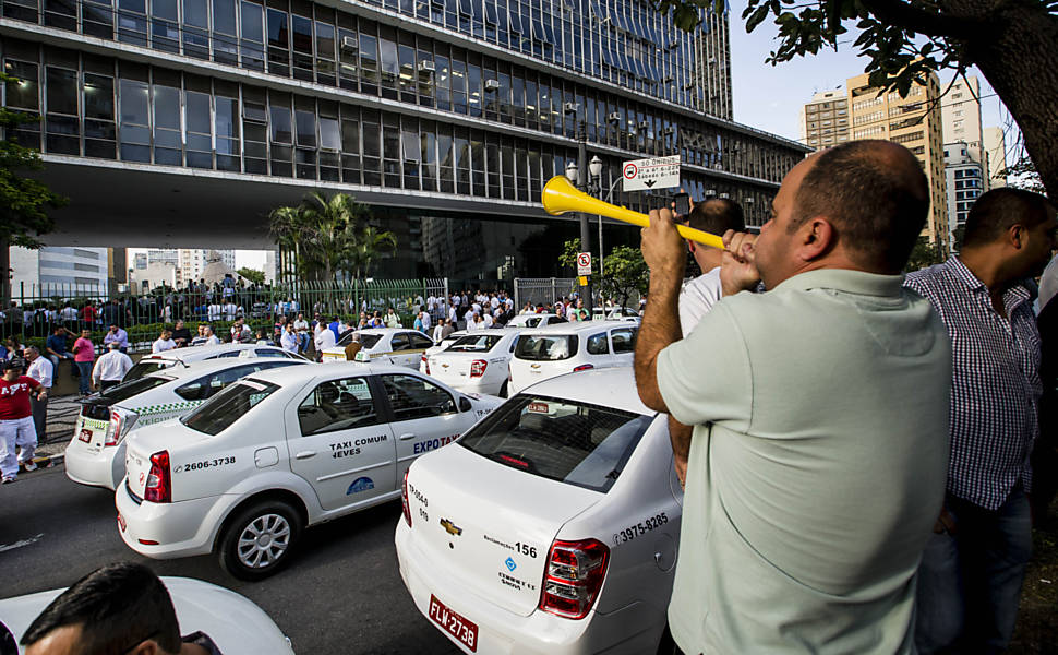 Uber x Taxi em São Paulo