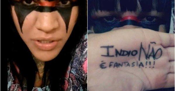 """Índio """"não"""" é fantasia, segundo o Catraca Livre, de extrema-esquerda"""