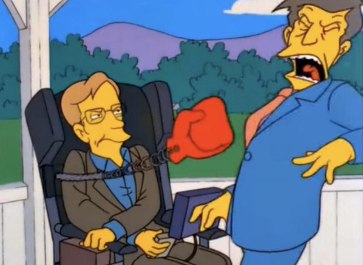 Stepen Hawking em aparição nos Simpsons