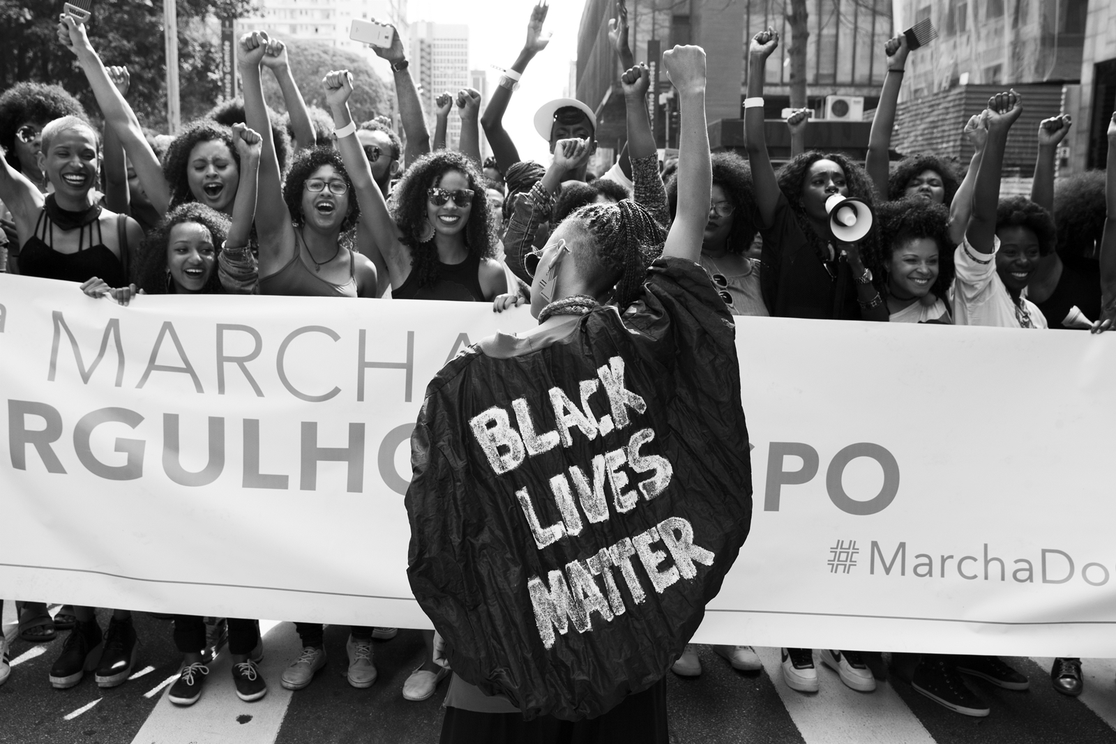 Marcha / Dia do Orgulho Crespo, defendendo o Black Lives Matter