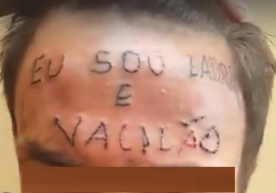 """Jovem da testa tatuada """"Sou ladrão e vacilão"""" rouba de novo"""