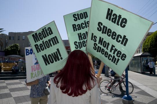 """Discurso de ódio """"não"""" é liberdade de expressão"""