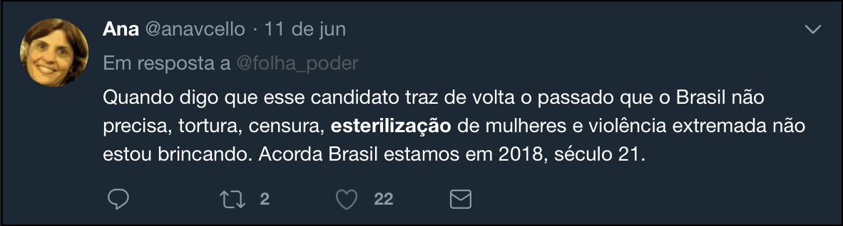 Trouxas divulgam fake news de que Bolsonaro quer praticar esterilização forçada de pobres