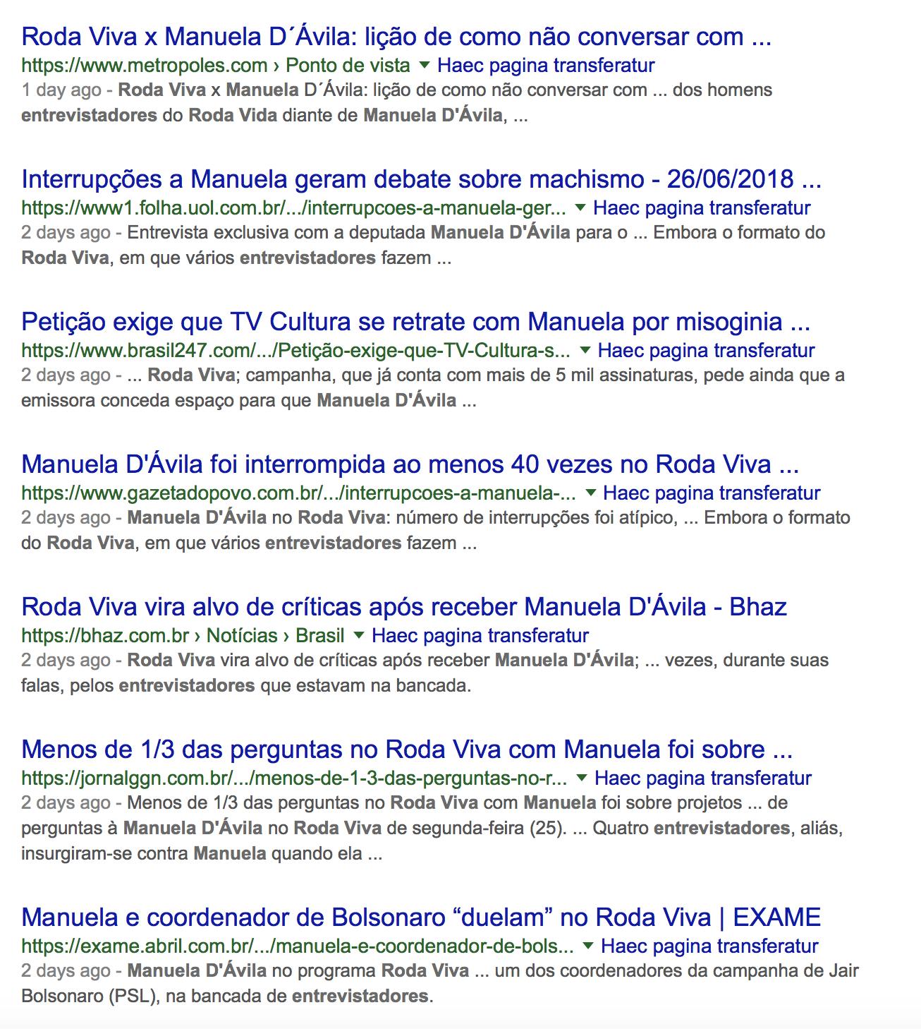 """Manuela d'Ávila: mídia inventa que sofreu """"ataque machista"""" no Google"""