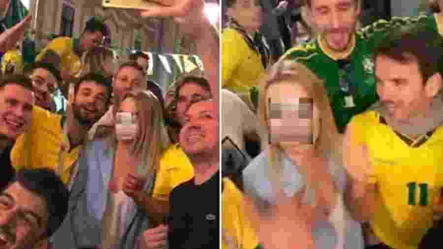 Jornalista russa em vídeo de abuso por torcedores brasileiros