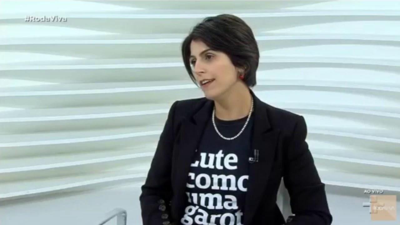 Manuela d'Ávila Avião no Roda Viva