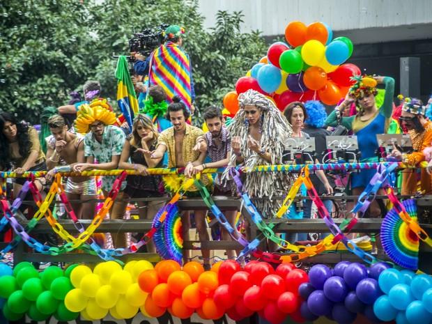 Parada Gay na Av. Paulista, em São Paulo