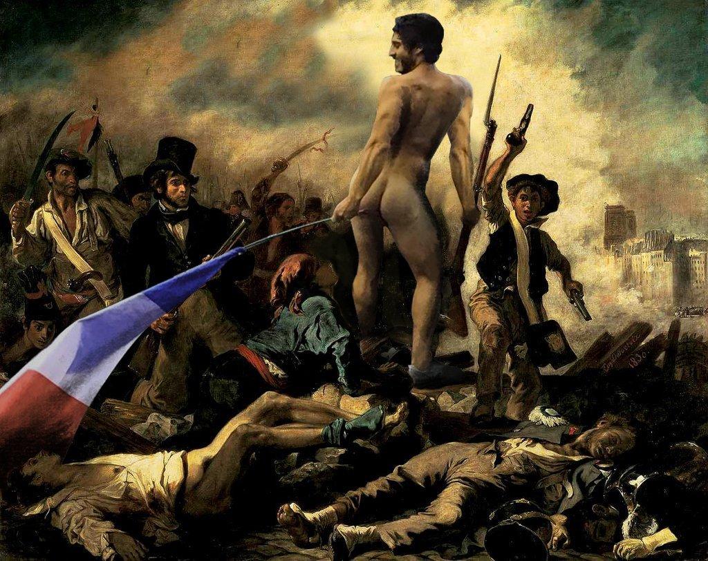 Revolução Francesa com bandeira no rabo