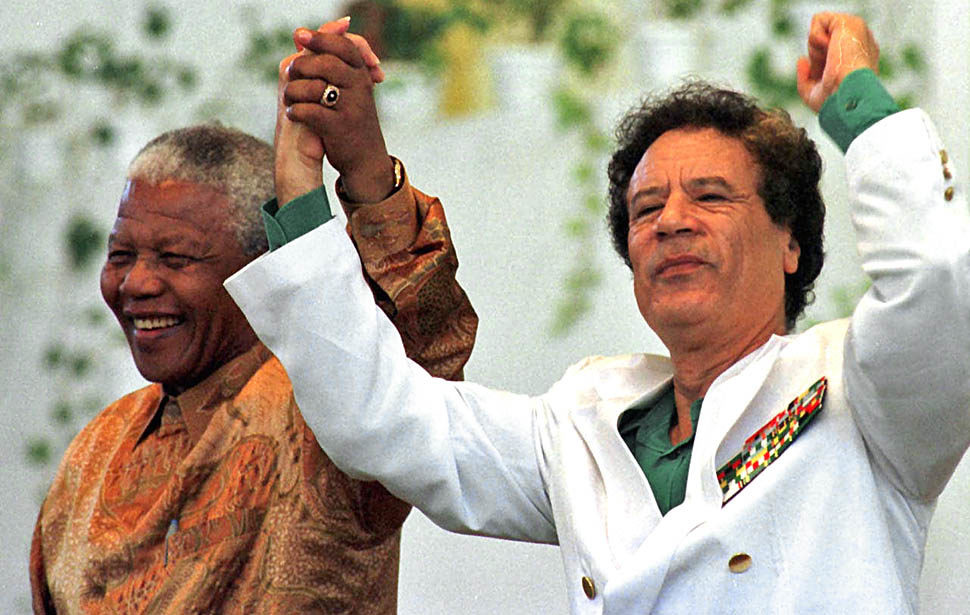 Mandela e Kadafi