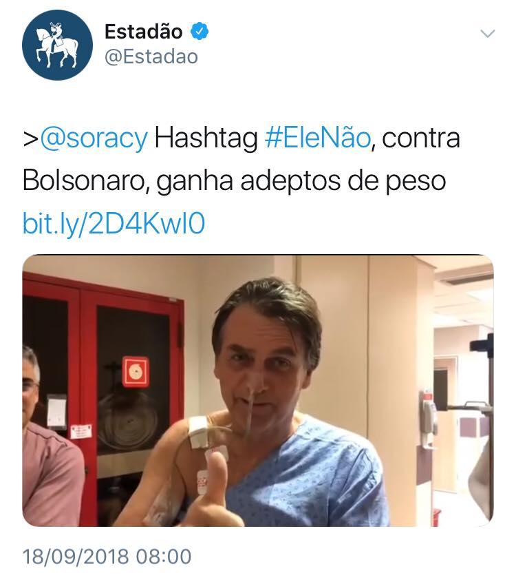 Estadão Soracy faz fake news do consenso fabricado sobre Bolsonaro