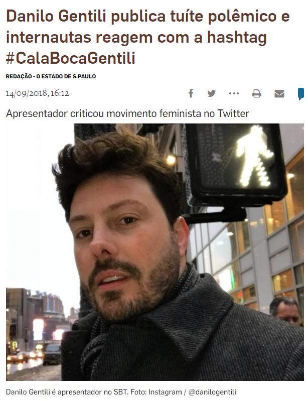 Danilo Gentili sofre fake news de consenso fabricado