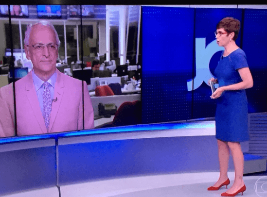 Jornal Globo Pontual rosa