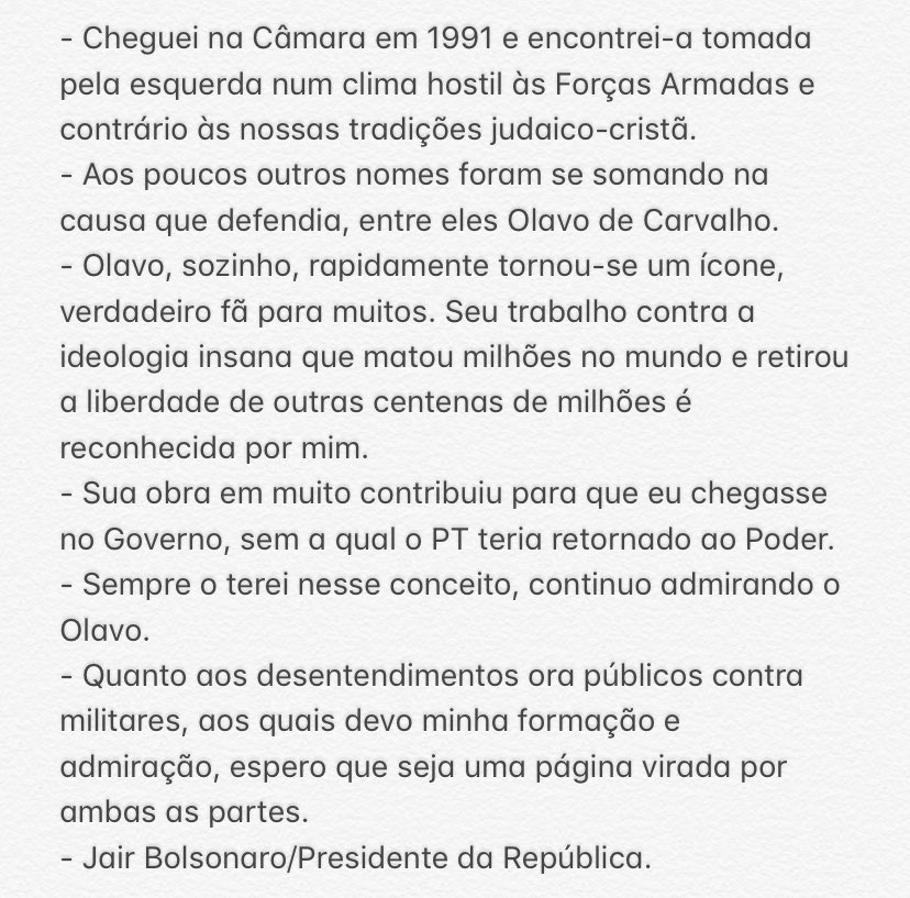 Bolsonaro - Olavo de Carvalho - Villas Boas