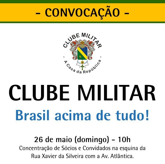 Santos Cruz, Manifestação, Bolsonaro, Feliciano, convocação, clube militar