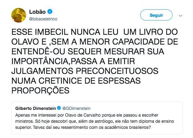 Lobão - Olavo de Carvalho - Jair Bolsonaro