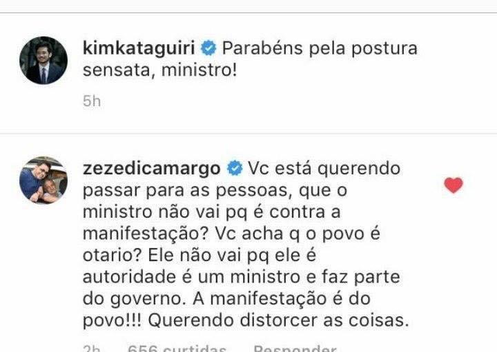 Kim Kataguiri - Zeze Di Camargo - Manifestações dia 26