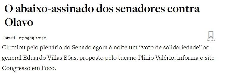 Mídia - Olavo - Villas Boas - O antagonista