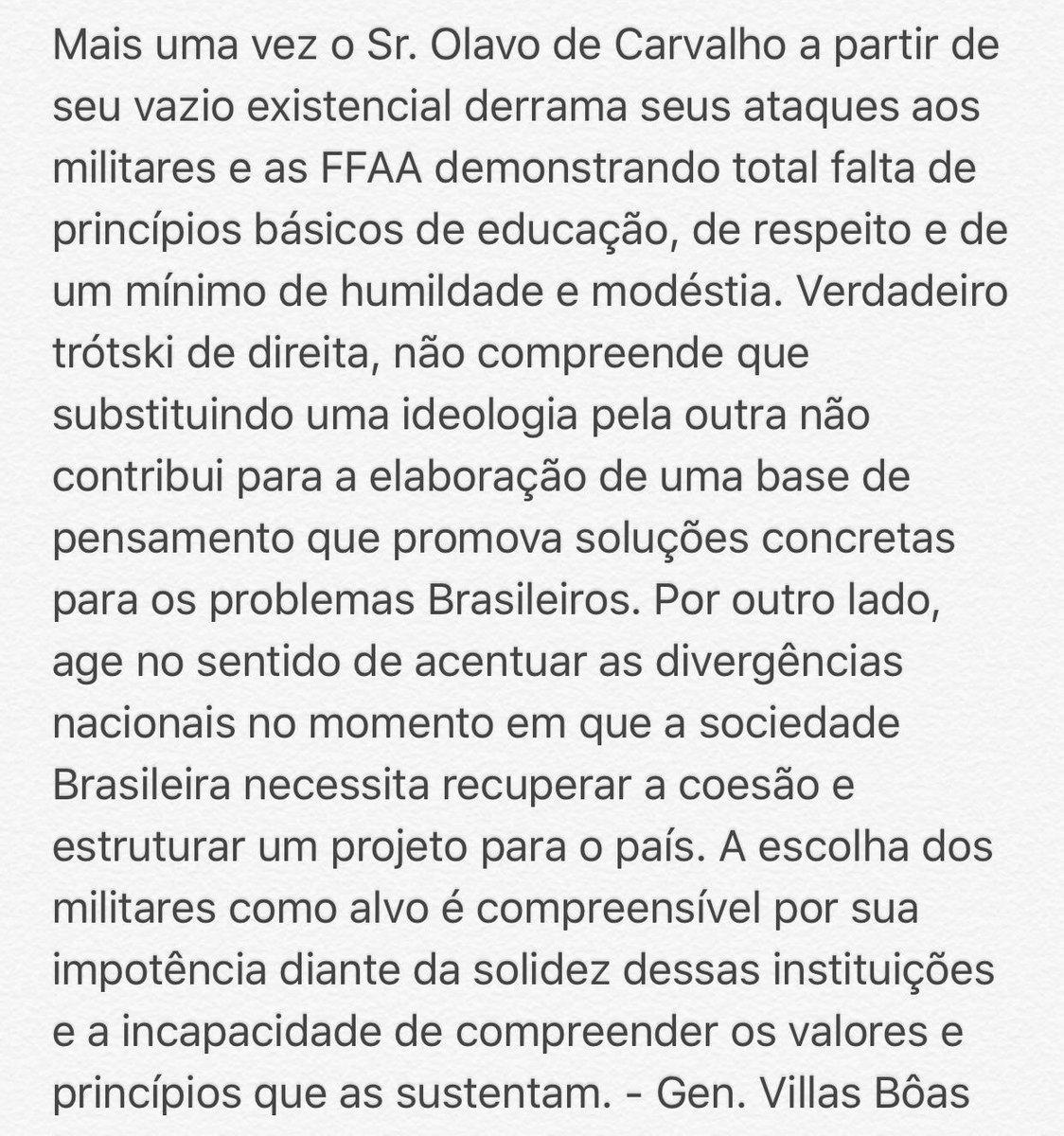 Villas Boas - Texto contra Olavo