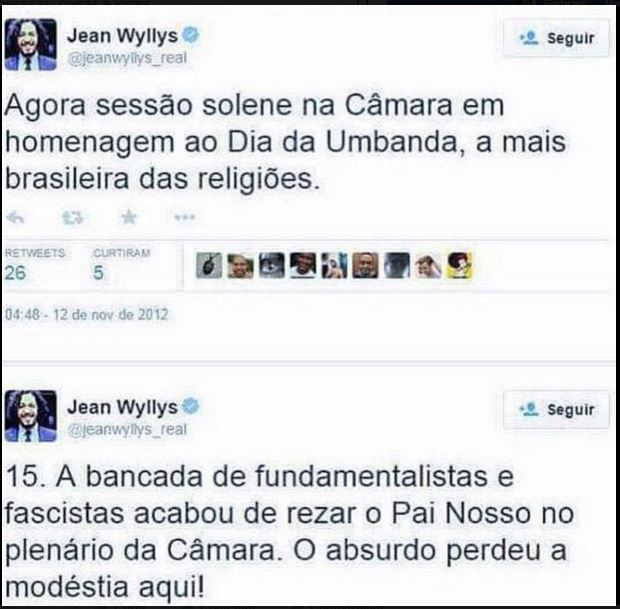 Jean Wyllys umbanda